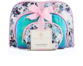 Adrienne Vittadini 3-pc. Floral Cosmetic Bag Set