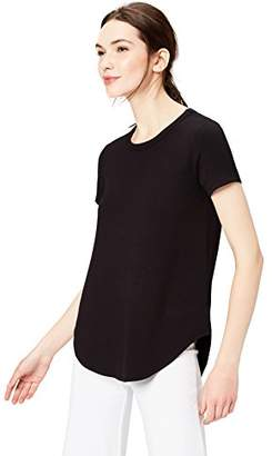 Daily Ritual Women's Supersoft Terry Short-Sleeve Shirt With Shirttail Hem