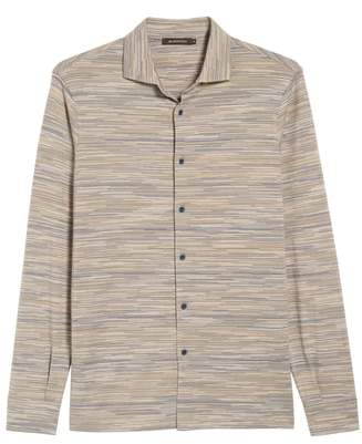 Bugatchi Regular Fit Striated Knit Sport Shirt