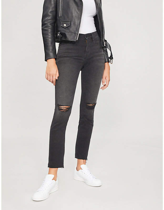 Frame Le Nouveau distressed slim-fit skinny jeans