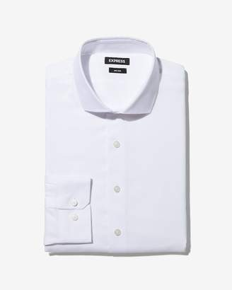 Express Slim Solid Non-Iron Dress Shirt