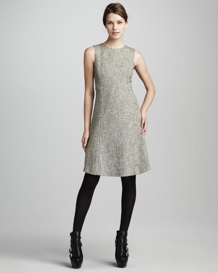 Theyskens' Theory Sleeveless Tweed Dress