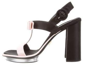 Prada Satin Bow Sandals