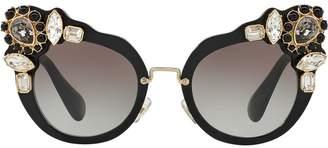 Miu Miu Runway crystal-embellished sunglasses