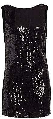 Alice + Olivia Women's Kamryn Sequin Cowl Back Mini Dress