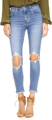 Levi's 721 High Rise Distressed Skinny Jeans $88 thestylecure.com