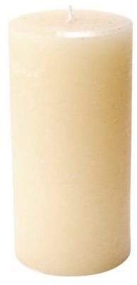 "Sur La Table Beige Pillar Candle, 3"" x 6"""