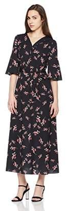 Suite Alice Short Sleeve V Neck Waist Tie Print Dress Print