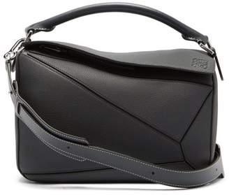 Loewe Puzzle Grained Leather Cross Body Bag - Womens - Dark Grey