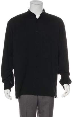 Issey Miyake Tab Collar Button-Up Shirt