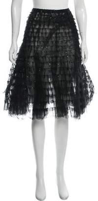 Oscar de la Renta Sequined Tulle Skirt