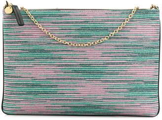 M Missoni striped clutch bag