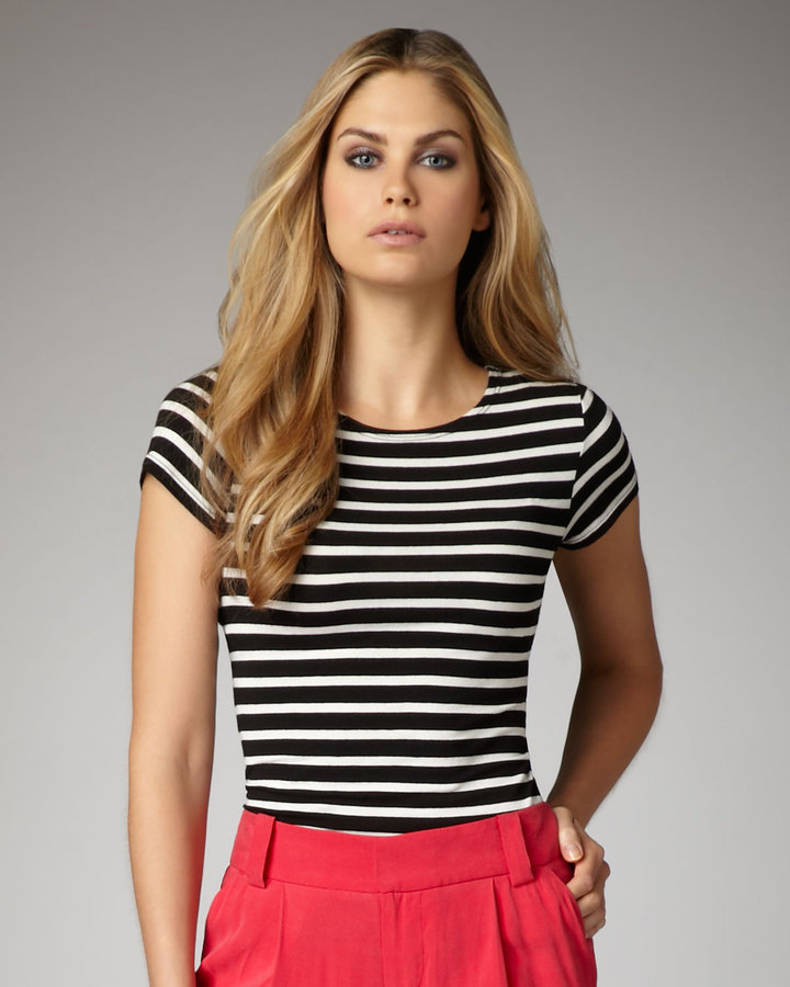 Alice + Olivia Eva Striped Tee