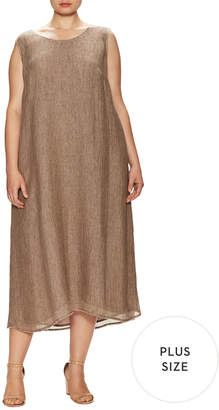 Lafayette 148 New York Plus Palmer Fringe Trimmed Midi Dress