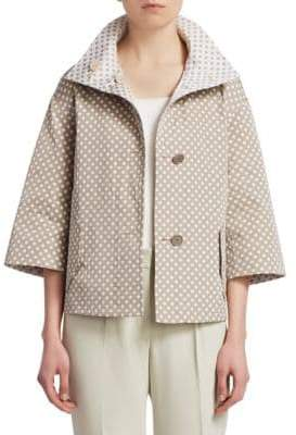 Akris Punto Reversible Polka Dot Jacket