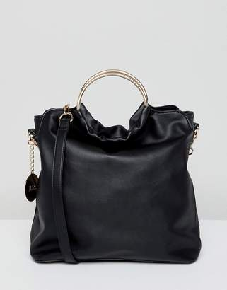 Faith Slouch Tote Bag With Circle Handle