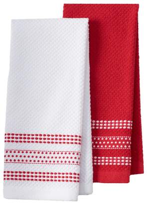 Farberware Dobby Dots Kitchen Towel 2-pk.