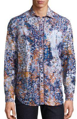 Robert Graham Transcendence Printed Shirt $398 thestylecure.com