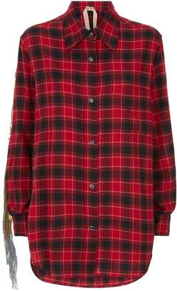 N°21 N 21 Sequin Fringed Check Shirt