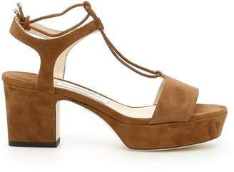 Jimmy Choo Suede Belize 65 Sandals