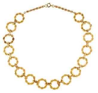 14K Round Link Necklace