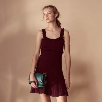 Sandro Short knit dress with straps