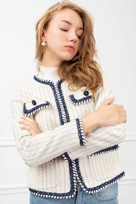 J.ING Yacht White Tweed Blazer