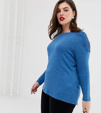 Junarose lace shoulder knitted top