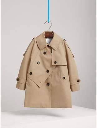 Burberry Panel Detail Cotton Gabardine Trench Coat