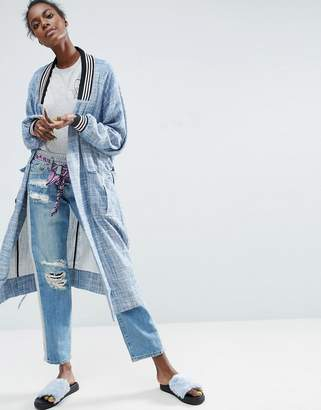ASOS Made In Kenya Chambray Trench With Contrast Rib $111 thestylecure.com