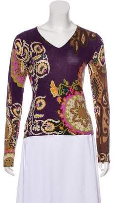Etro Silk & Cashmere Printed Sweater