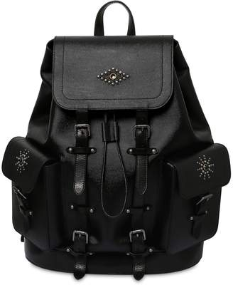 Road House Leather Backpack W/ Studs