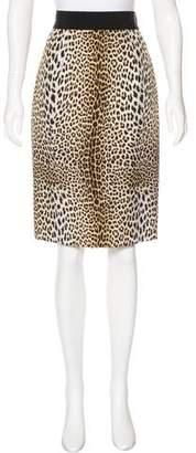 Giambattista Valli Silk Printed Skirt