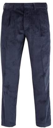 The Gigi - Tonga Straight Leg Corduroy Trousers - Mens - Navy