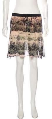 Cacharel Abstract Print Mini Skirt