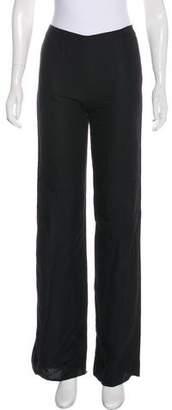 Valentino Linen-Blend Mid-Rise Pants