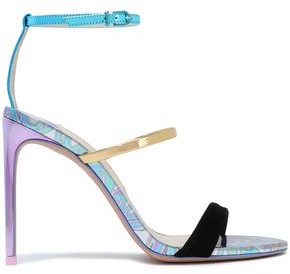 Sophia Webster Rosalind Suede And Iridescent Leather Sandals