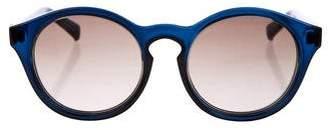 Self-Portrait Tinted Circular Sunglasses