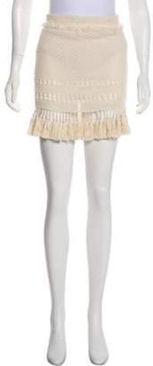Isabel Marant Fringe-Trimmed Mini Skirt