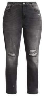 Marina Rinaldi Marina Rinaldi, Plus Size Marina Rinaldi, Plus Size Women's Distress Skinny Jeans - Medium Grey - Size 20W