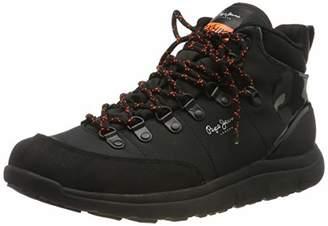 Pepe Jeans London Men's Hike Mountain Nylon Hi-Top Trainers, (Black 999)