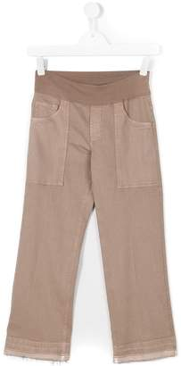 European Culture Kids Teen raw hem trousers