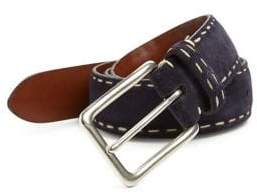 Saks Fifth Avenue COLLECTION Contrast Stitched Suede Belt
