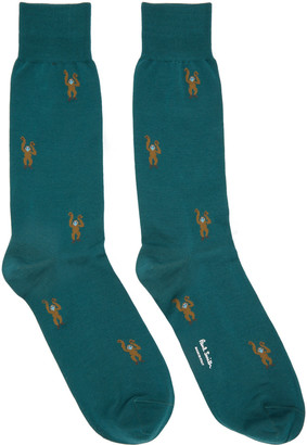 Paul Smith Green Monkey Socks $30 thestylecure.com