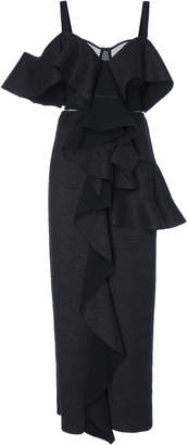 Proenza Schouler One Shoulder Ruffle Dress