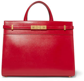 Saint Laurent Manhattan Small Leather Tote - Red