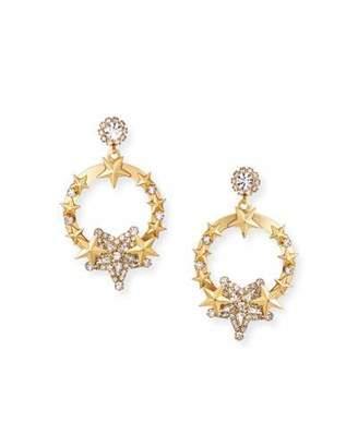 Elizabeth Cole Kelsey Hoop Drop Earrings w/ Stars