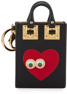 Sophie Hulme Albion Heart & Eyes Tote Card Holder, Black $325 thestylecure.com