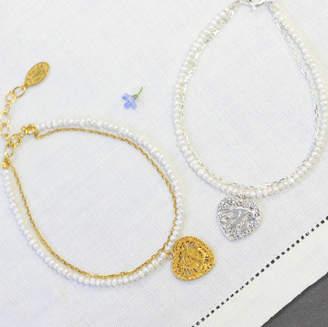 Coleman Amanda Initialed Love Heart Bracelet