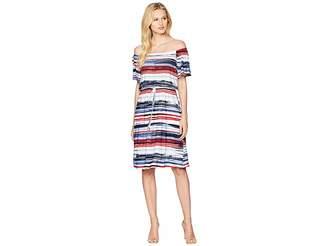Nine West ITY Off-the-Shoulder Short Dress Women's Dress